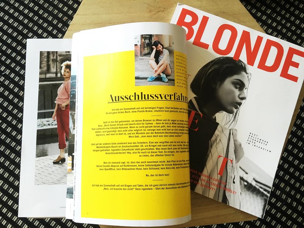 Nhi extern: Slam Poem für Blonde Magazine