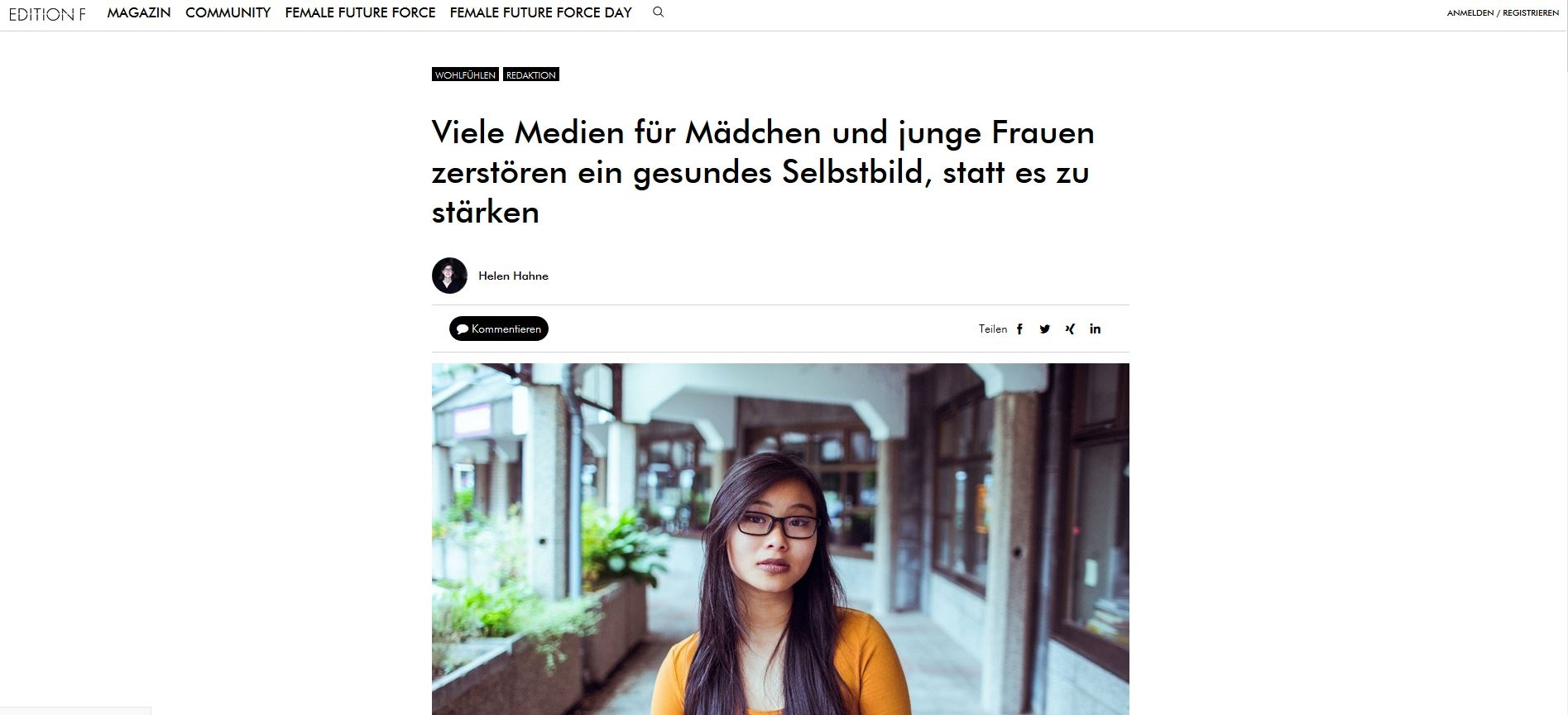 Interview Edition F – Über Mädchenzeitschriften